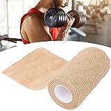 Vendaje elástico autoadhesivo, vendaje protector deportivo, cinta cohesiva para los dedos, tela de algodón transpirable no tejida elástica(El 10cm * los 4.5m)