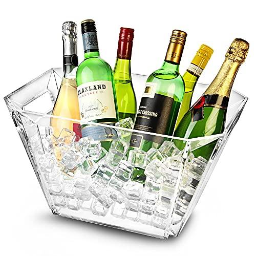 Glacier acrílico geométrico cubo de vino, cubo de Champán, Vino Enfriador, enfriador de champán