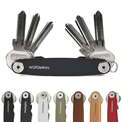 WUNDERKEY® Classic Schwarz (bis 16 Schlüssel) – der Schlüssel Organizer Made in Germany [Key Organizer | Schlüsseletui | Schlüsselhalter | Schlüsselbund] – Premium Qualität