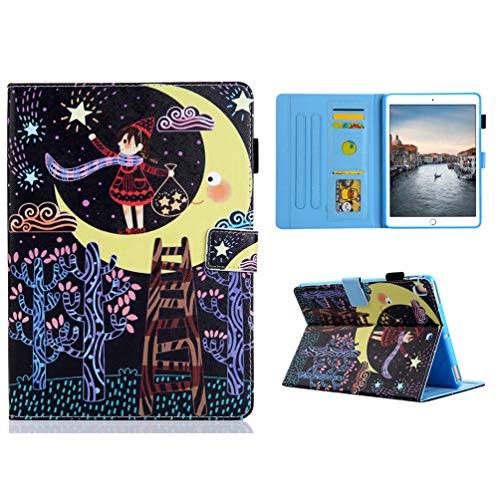 Vogu'SaNa Compatible for Tablet Case iPad 10.2 2019 PU Leather Case Protective Cover Pattern Flip Cover Sleep Wake Cover Stand Compartments Magnetic Cover Shell Sleeves