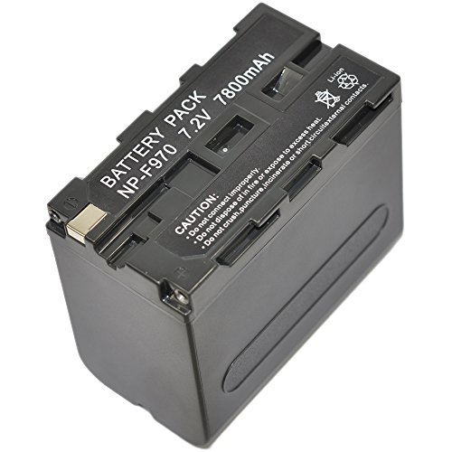 PowerSmart [Li-ion,7.20V,6600mAh], Replacement Camcorder Battery for SONY CCD-TRV26E, CCD-TRV36E, DSR-PD150, DSR-PD150P, DSR-PD170, DSR-PD170P, GV-HD700, GV-HD700E, HVR-HD1000E, HVR-V1E, HVR-V1U, HVR-Z5E, HVR-Z5U, HVR-Z7E, HVR-Z7U, HXR-NX5, HXR-NX5E, Compatible Part Numbers: NP-F930, NP-F930/B, NP-F950, NP-F950/B, NP-F960, NP-F970, NP-F970/B