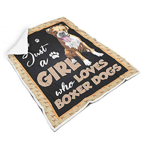 JEFFERS Just A Girl Who Loves Boxer Dogs woondeken aangenaam warm in de woonkamer plafond