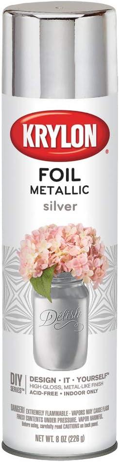 Krylon Premium Metallic Spray Paint Resembles Actual Plating, Silver Foil
