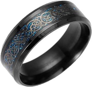 bcb0d173dd43c2 Men's Titanium Steel Dragon Ring Silver Golden Dragon Stainless Steel Ring