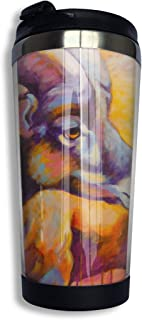 Coffee Thermos Cup Tibetan Antelope Stainless Steel Travel Mug Cup Water Bottle