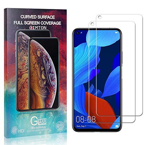 GIMTON Displayschutzfolie für Huawei Honor 20, 9H Härte Anti Fingerprint Displayschutz, Ultra Dünn Schutzfilm aus Gehärtetem Glas für Huawei Honor 20, 2 Stück