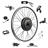 EBIKELING Waterproof Ebike Conversion Kit 48V 1200W 700C Direct Drive (NOT 26') Electric Bike Conversion Kit - Front Wheel Electric Bicycle Hub Motor Kit (Front/LCD/Thumb)