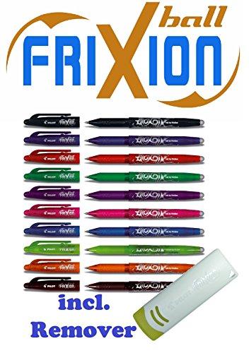 Tintenschreiber Pilot Frixion 07 10er Sparpack farblich sortiert | mit Radierer original Frixion