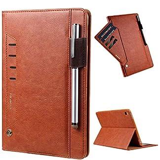 elecfan-iPad-Pro-105-Huelle-mit-Stifthalter-Premium-Kunstleder-Unternehmen-Stil-Ultra-Schlank-Schutzhuelle-Huelle-Etui-Tasche-Smart-Case-mit-stifthalter-fuer-Apple-iPad-Pro-105-Tablette-Braun