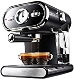 Máquina de café Expresso Semi-automática de café Molinillo de café Cappuccino System extractora Control de Temperatura Dual Alta Presión Coffee Pot Adecuado cafetera Espresso