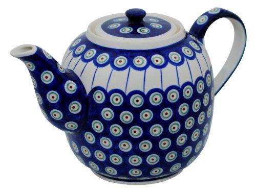 Original Bunzlauer Keramik Teekanne 1,50 Liter im Dekor 8