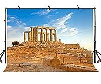 lylyctyポリエステル10x 7ft写真バックドロップAthens Poseidon Temple Ruins背景Studio Props lynan162