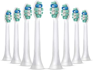 Simple AMZ Replacement Brush Heads for Philips Sonicare Electric Toothbrush, DiamondClean, HealthyWhite, FlexCare, EasyClean, Plaque Control, Gum Health, Essence +, PowerUp, 8 pack