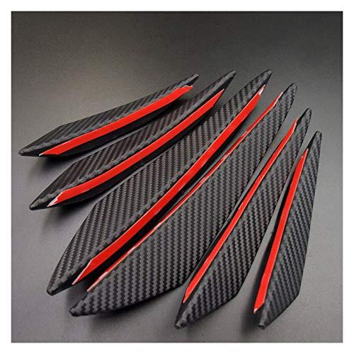 JZLMF Auto-Frontspoiler 6Pcs Universal-Fit Frontstoßstange Lip Diffusor Splitter Fins Körper Spoiler Canards Valence Chin Car Tuning Canard Autozubehör