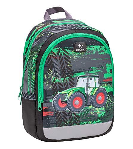 Belmil Kinderrucksack Jungen für 3-6 Jährige - Super Leichte 260 g/Kindergarten/Krippenrucksack Kindergartentasche Kindertasche/Traktor/Grün, Green (305-4 Tractor)