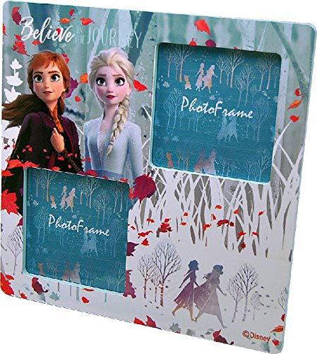 Disney Frozen Madera 2 Marcos de Fotos Decoración del hogar Unisex Adulto, Multicolor (Multicolor), única