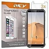 REY 3X Protector de Pantalla para OUKITEL WP5, Cristal Vidrio Templado Premium