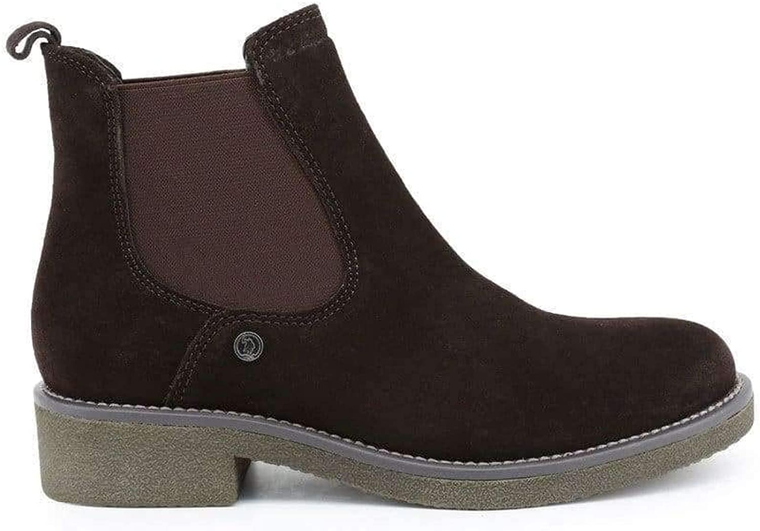 U.S. Polo Women's Suede Ankle Boots, VERVE4153W8_S1_DKBR