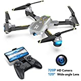 Drones with Camera for Adults - VR Drone, WiFi FPV Camera Drone with Optical Flow Positioning, Gravity Control, Voice Control, Trajectory Flight, App Control, Headless Mode, Compatible with 3D VR