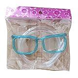 Kaijia Gafas creativas de paja flexible para refrescos y bebidas, suministros de fiesta para cumpleaños, Halloween, carnaval