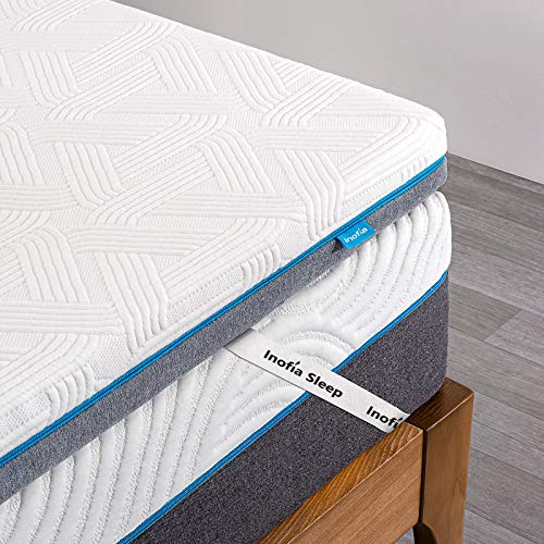 Inofia Sleep Memory Foam Mattress Topper Small Double Bed,3Inch LATEXCH Mattress Topper for Back Pain with Removable Cover and Storage Bag, Rest Easy on Sofa, Mattress, Camping Car Mattress(120×190cm