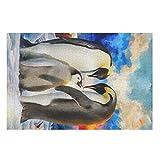 Uicoomhill Puzzle de madera de pingüino, 200/300/500/1000 piezas, gran juego de puzzles de juguete, regalo – puzle DIY para adultos, niños, jóvenes, familia blanca, 500 piezas