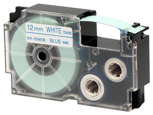 CASIO EZ-Label Printer XR-12WEB1 Schriftband selbsthaftend 12 mm x 8,0 m blau auf weiß