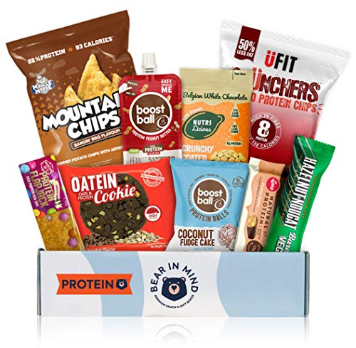High Protein Snacks Hamper - Ideal Gym Gifts for Men and Women