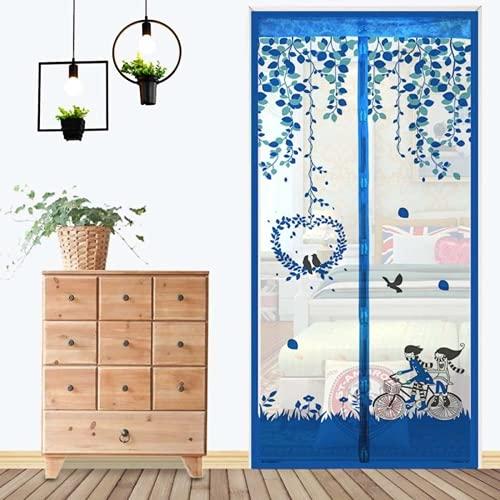 Fly Screen Door, Magnetic Fly Screen Door, Mosquito Net, Easy to Attach, Translucent Magnetic Curtain for Balcony Door Living Room Door No Drilling Required (3,90 x 210cm)