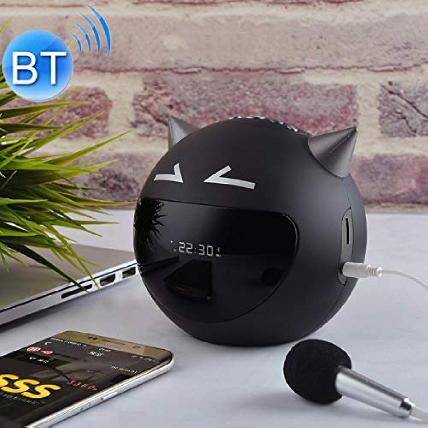 レッスン対抗暴露するBluetoothワイヤレススピーカー M8多機能悪魔スタイルのBluetoothスピーカー Bluetoothワイヤレススピーカー (色 : Black)