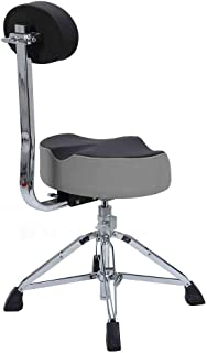 AINIYF Drum Throne,Drum Stool Padded Seat Height Adjustable Round Top Drum Chair with Sturdy Tripod Base, Anti-Slip Rubber Feet Foldable for Drummer, Percussion, Keyboard, Piano Players