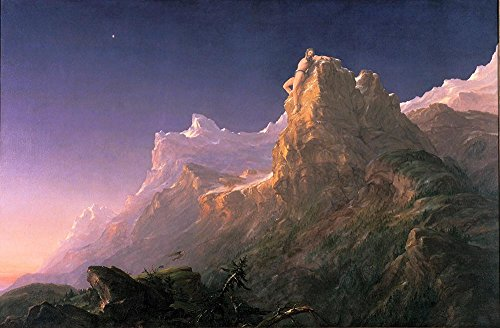 Thomas Cole – Prometheus Bound – A3 Größe strukturierten Papier drucken (Limited Edition)