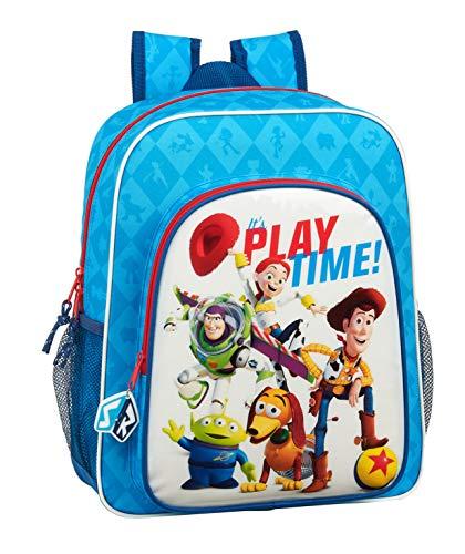 Safta 612031640 Mochila Junior Adaptable Carro Toy Story  Azul