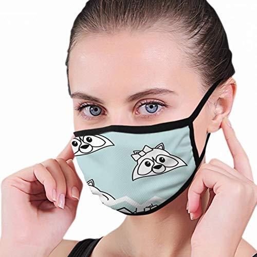 Mouth Cover, wasbeer cartoon zegel stempel prachtig camping gezicht mond masker, decoratief mondmasker voor mannen vrouwen hardlopen volwassenen fietsen in de buitenlucht