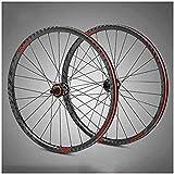 Ruedas Ruedas para bicicletas para bicicletas para bicicletas de montaña de fibra de carbono ultraligidos para 29 pulgadas, liberación rápida de freno de disco Híbrido 28 orificios adecuados para SRAM