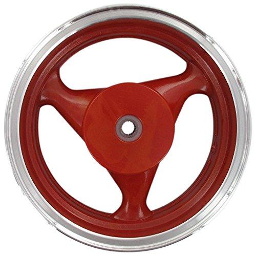 Xfight-Parts Llanta trasera de aluminio rojo 19 3,5 x 13 pulgadas, 3 radios, tambor de 4 tiempos, 125 ccm, YY125T-28 Shenke Rex RS 1000