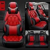 0beilita Fundas Asientos Coche Universales para Seat Alhambra Altea Ibiza 6L 6J Leon Mk2 Mk3 Toledo Ateca Arona Accesorios Coche, Lujo Rojo
