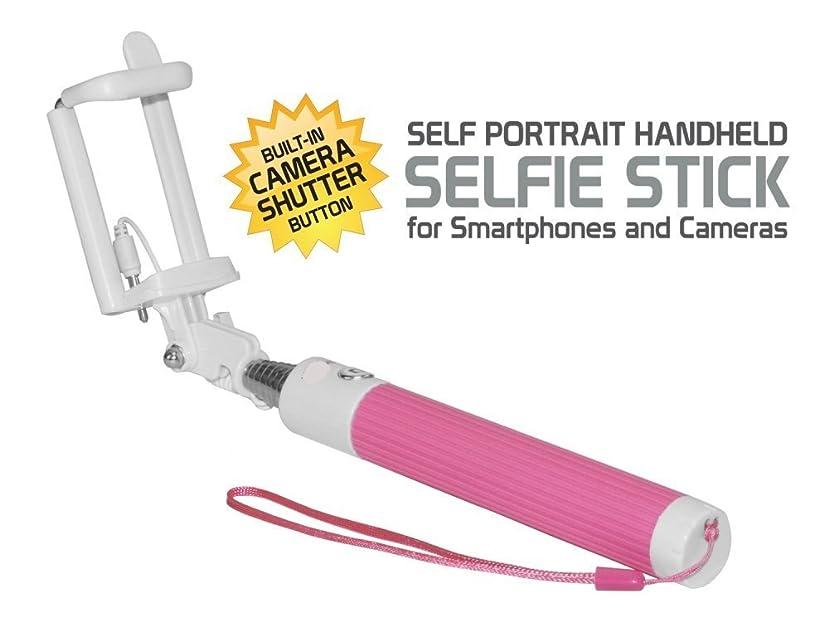 COMPACT LG K20?V 粉色可伸缩 AUX 连接线 ) 自画像 selfie STICK STICK 手持 monopod 带快门 controls button ON 手柄