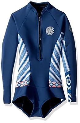 Rip Curl G Bomb Long Sleeve Spring Suit Hi Cut, Navy, Size 4