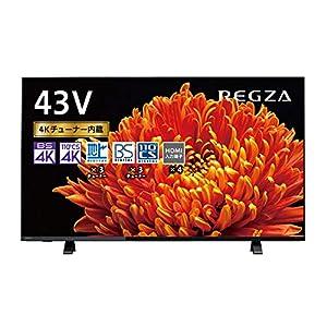 東芝 43V型 液晶テレビ レグザ 43C340X 4Kチューナー内蔵 外付けHDD W録画対応 (2020年モデル)