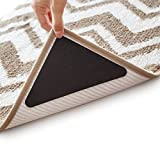 Anti Curling Rug Grippers - Latest Anti Curling Rug Pad Anti Folding Carpet Corners to Make Rug Corner Flat, EVA Foam Carpet Tape No Sticky to The Floor Hardwood Safe & Removable Not an Anti-Slip Pad