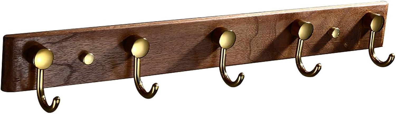 Coat Rack, Black Walnut Wall Clothes Hanger Coat Rack Wall Hanger Hook Hook Wood Hanger Hanger 48  5.5cm (color    2)