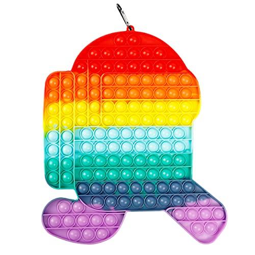 Abeirer - Giocattolo pop it antistress, gigante, dinosauro, economico, formato grande, spingi bolle per persone inquiete (tra di noi)
