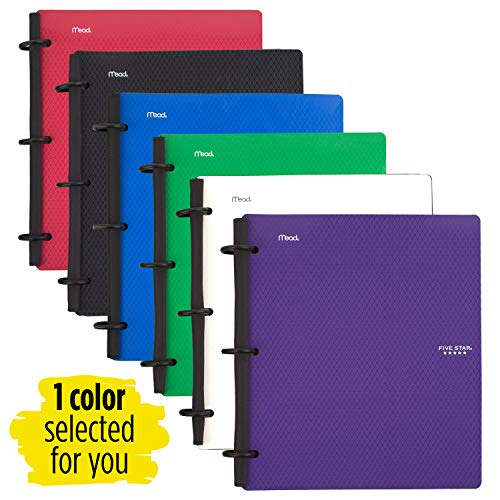 Five Star Flex Hybrid NoteBinder, 1-1/2 Inch Binder with Tabs, Notebook and 3 Ring Binder All-in-One, Assorted Colors, Color Selected For You, 1 Count (29146) Photo #7