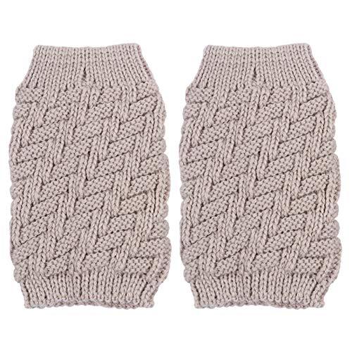 VALICLUD Crochet Tejido Calentador de Pierna Corto Invierno Cálido Calcetines de Bota Puños Toppers de Arranque para Mujeres Niñas