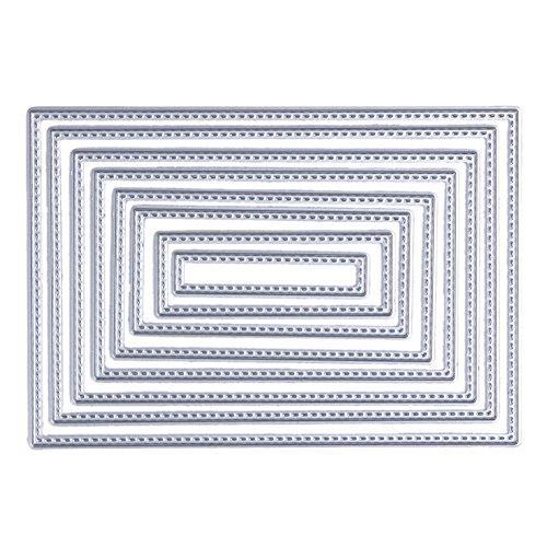 Demiawaking 8Pcs Metall Karte Form Stanzschablonen Metall Schneiden Schablonen für DIY Scrapbooking Album, Schneiden Schablonen Papier Karten Sammelalbum Dekor