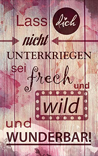 GRAZDesign muurschildering Roze Roze Houten look - Wanddecoratie statement Sei plat wild en heerlijk schilderij / 100730 60x100cm