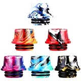 6 Pieces Resin 810 Drip Tip Replacement Resin Drip Tip Connector Standard Resin Drip Tip Cover Fitting Resin Connector for Ice Maker Coffee Mod Machine Favors (Chic Style)