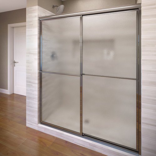 Review Of Basco Deluxe Framed Sliding Shower Door, Fits 45-47 inch opening, Obscure Glass, Silver Fi...
