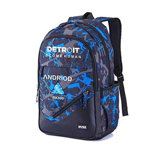 Detroit Become Human Zaini Sportivi e Outdoor Zaino Scuola per Donna e Uomo Zaini per PC Portatili Stampa Zaino per Escursioni Popolare Borsa da Viaggio Personalizzate